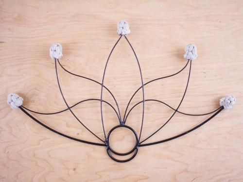 Lotus Fire Fan with 5 Wicks, kevlar fire fan, flower fire fan, fire fan spinning,