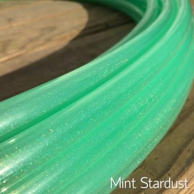 sparkle green polypro hoop, mint stardust hoop