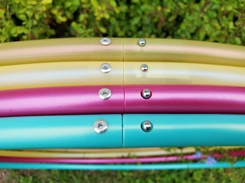 yellow hula hoop, cheap hula hoop, polypro hoop, custom hula hoop, beginner hula hoop, festival hoop,