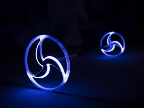 led round dragon staff